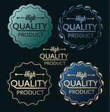 High quality product blue golden Royalty Free Stock Images