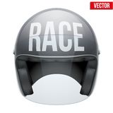 High quality racing motorcycle helmet. Stock Photos