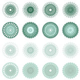 High quality rossete vector elements. Royalty Free Stock Photography