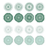 High quality rossete vector elements. Stock Image