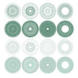 High quality rossete vector elements. Stock Photos
