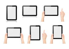 Set of digital tablets Royalty Free Stock Photos