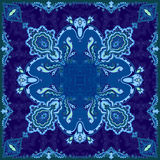 High quality shawl paisley pattern with graphic elements for printing on fabric Royalty Free Stock Image