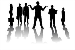 High quality silhouette vector of business people Stock Photography