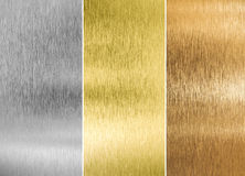 High quality silver, gold and bronze metal Royalty Free Stock Photography