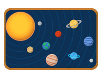 High quality solar system space planets flat vector illustration universe astronomy galaxy science. Stock Photos