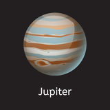 High quality space planet galaxy astronomy jupiter universe science cosmos star vector illustration. Royalty Free Stock Photography