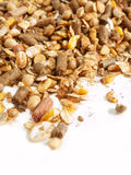 High quality sportive  muesli background. for horse. Royalty Free Stock Photo