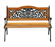 High quality stylish garden cast-iron bench Royalty Free Stock Photos