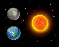 High quality sun planet galaxy astronomy earth science globe orbit star vector illustration. Stock Photos
