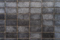Dark grey granite tiles with fine patterns - high quality texture / background royalty free stock image