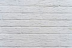 White modern brick wall - high quality texture / background stock image