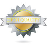 High Quality vector Label. High Quality Round Medal Label Royalty Free Stock Images