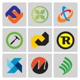 High quality vector logo set Royalty Free Stock Photos