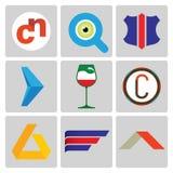 High quality vector logo set Royalty Free Stock Photo
