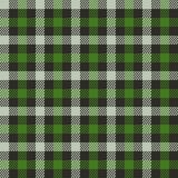 Vector seamless pattern of green tartan royalty free stock images