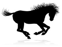 Horse Animal Silhouette. A high quality very detailed horse in silhouette Royalty Free Stock Photography