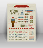High quality vintage styled infographics elements Royalty Free Stock Images