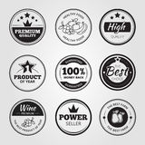 High quality vintage wax seals labels, badges and Royalty Free Stock Image
