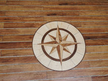 High quality wooden floor of a sailing boat Royalty Free Stock Photos