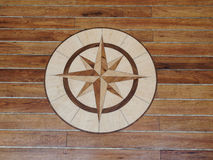 High quality wooden floor of a sailing boat Stock Image