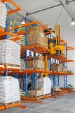 Stacker in warehouse Royalty Free Stock Photography