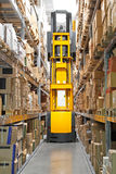 High rack stacker forklift Stock Photography