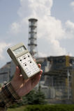 High radiation level. Near sarcophagus of Chernobyl nuclear station, Ukraine Stock Image