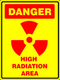 High radiation sign Royalty Free Stock Images