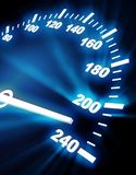 High rate on speedometer Royalty Free Stock Photos