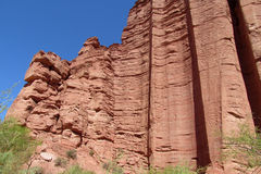 High red rock wall Royalty Free Stock Image