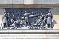 High relief of defensive of Sevastopol Stock Photos
