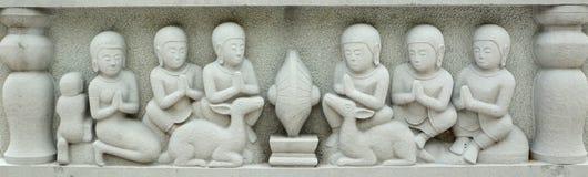 High relief sculpture brick Stock Photos