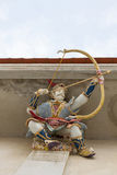 High Relief Sculpture of Mongol archery decorated with ceramic, Royalty Free Stock Photo