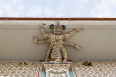 High Relief Sculpture of monster decorated with ceramic, Wat Par Stock Photo