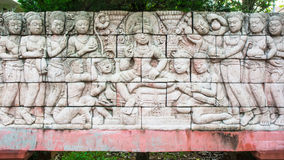 High relief sculpture Stock Images