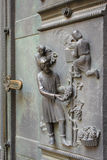 High relief at the west door of the Cathedral of St. Vitus Stock Photography