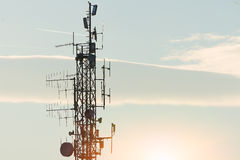 High repeater  antennas Stock Photo