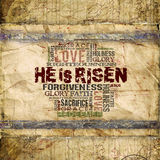 He is risen Religious Background stock illustration