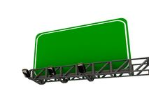 High res. blank road billboard. Isolated-3d rendered Royalty Free Stock Photography