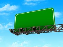 High res. blank road billboard. Isolated-3d rendered Royalty Free Stock Photos