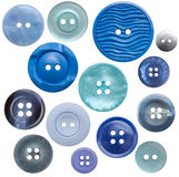 High-Res Button Collection - 14 Blue, Isolated Royalty Free Stock Images