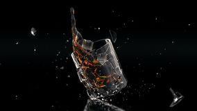 High res cocktail glass splash Stock Images