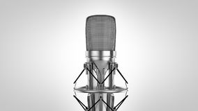 High res 3d High key Microphone Stock Photography