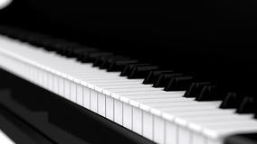 High res 3d piano keyboard Stock Image