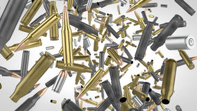 High res falling bullets Royalty Free Stock Image