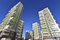 High residential buildings on the background of Royalty Free Stock Photography