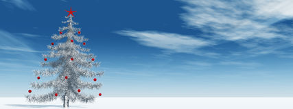 High resolution 3D christmas tree Royalty Free Stock Photo