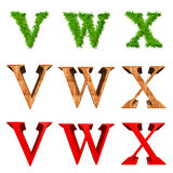 High resolution 3D fonts isolated Royalty Free Stock Image