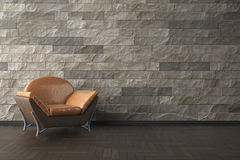 High resolution 3D render interior. High resolution 3D render gray interior Stock Photography